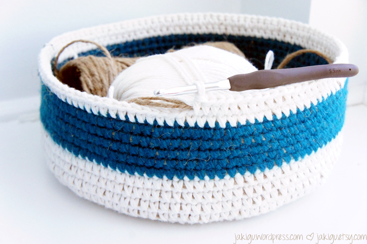 work in progress: coiled crochet basket