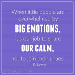 big emotions LR Knost quote