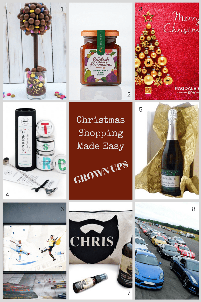 Christmas Shopping Made Easy - The Grown Up Addition