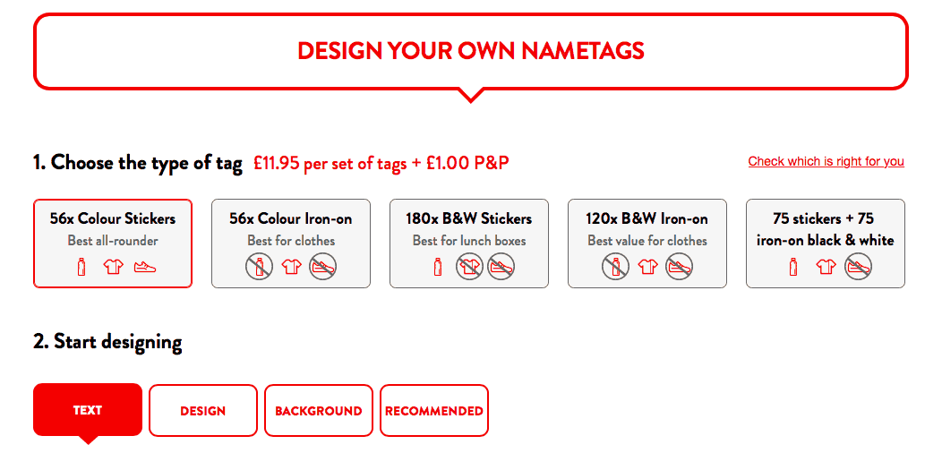 WIN Personalised Colour Nametags With MyNameTags.Com