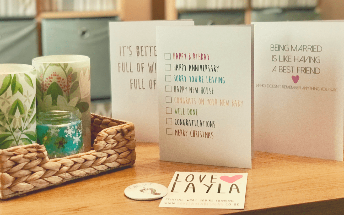 Fun And Unique Greetings Cards (Featuring Love Layla Designs)