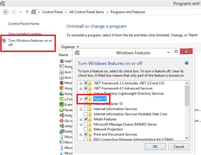 hyper-v disable in windows