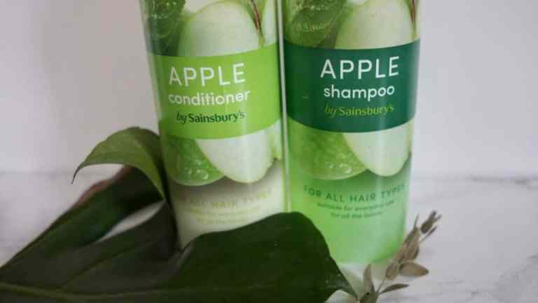 Sainsbury's szampon i odżywka |zielone jabłko