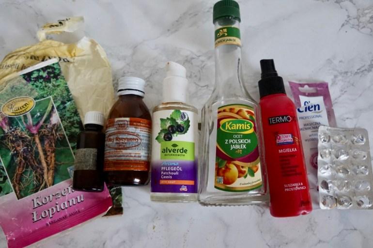 oleje i odżywki do włosów
