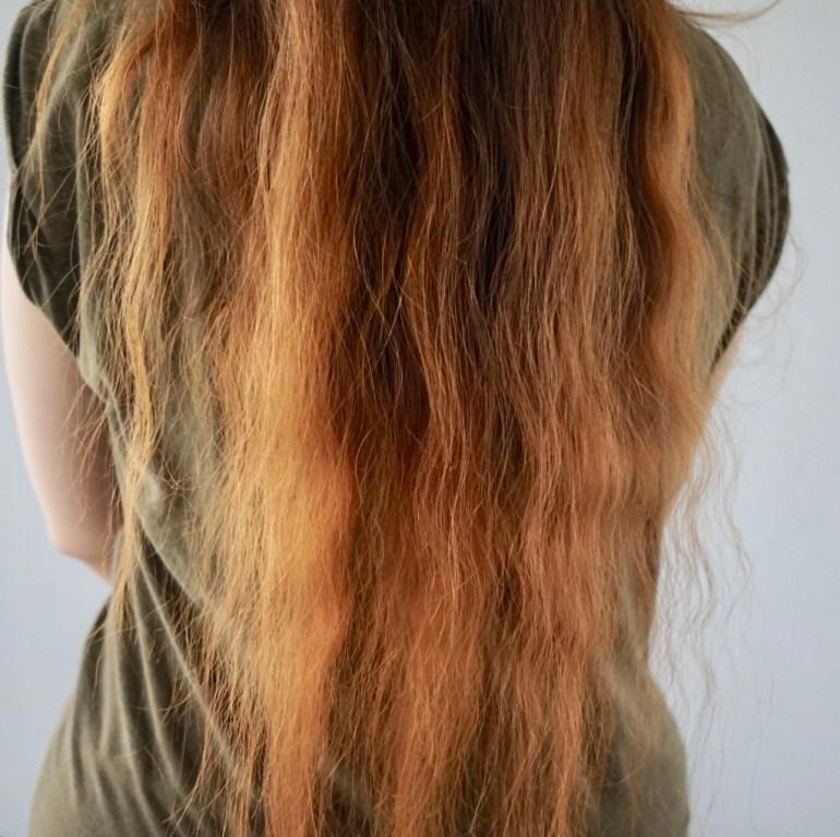 Włosy po farbowaniu henną Khadi