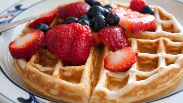 Keto gofry na słodko | przepisy ketologiczne