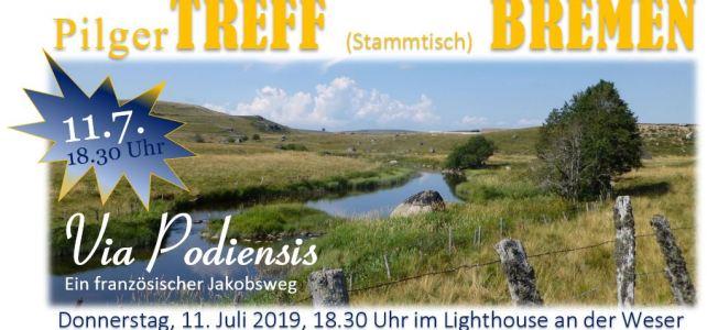 11.7.2019, 18.30 Uhr – Jakobsweg PilgerTREFF (Stammtisch) BREMEN – für alle