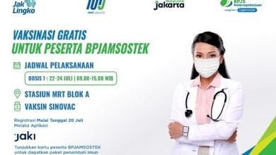 Photo of Genjot Herd Immunity, BPJS Ketenagakerjaan dan MRT Jakarta Akan Gelar Vaksinasi Bagi Pekerja