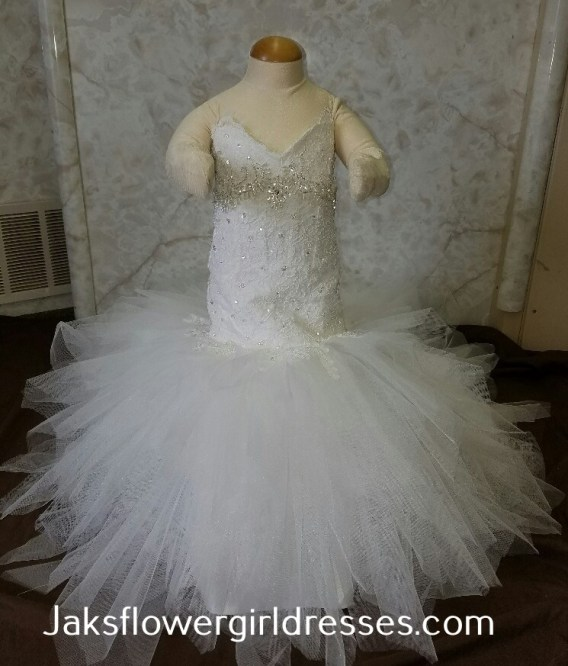fit and flare miniature bride dress