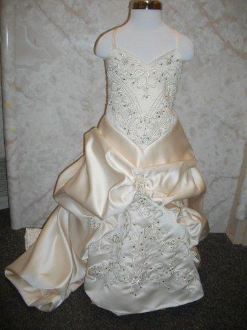 light champagne flower girl dress