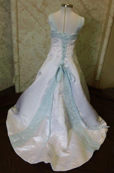 Flower girl dresses with color. White flower girl dresses with ...