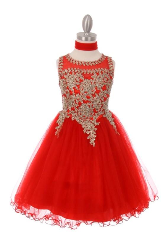 girls red christmas dress