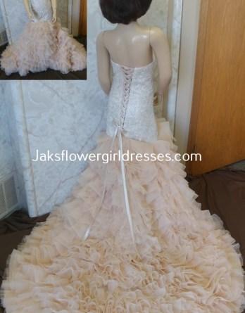mermaid flower girl wedding dress
