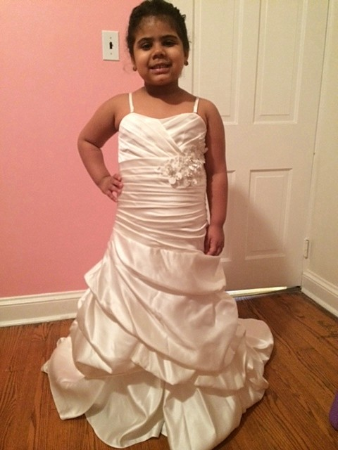 pick up flower girl dress