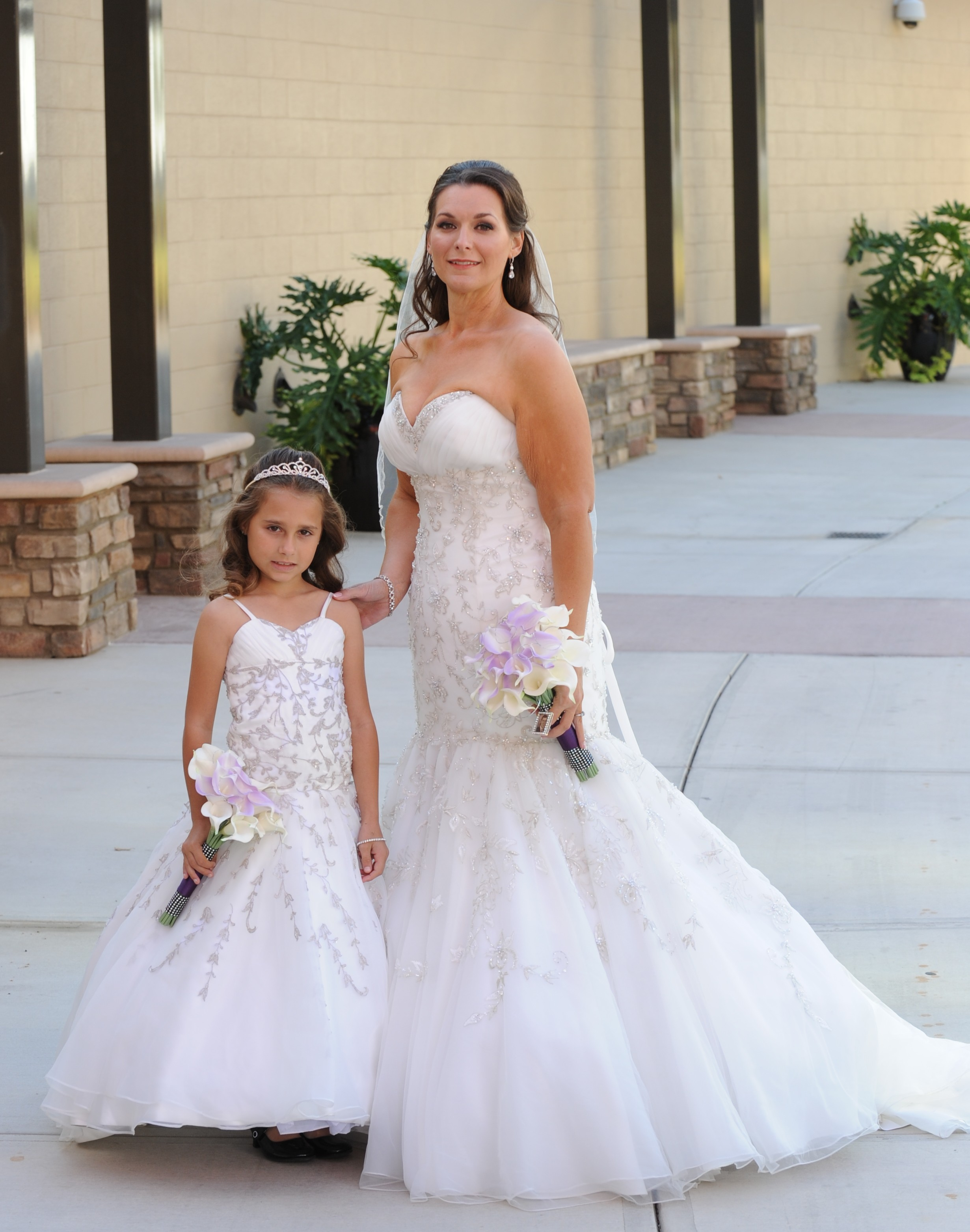 Mother daughter matching wedding dresses Jaks designs Mom and me