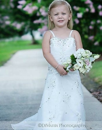 my daughters flower girl dress to match my wedding dress