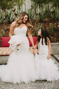 Flower girl mermaid style dresses. Miniature bride dresses