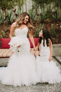 Flower girl mermaid style dresses. Miniature bride dresses ...