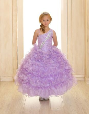 lilac childrens ball gowns