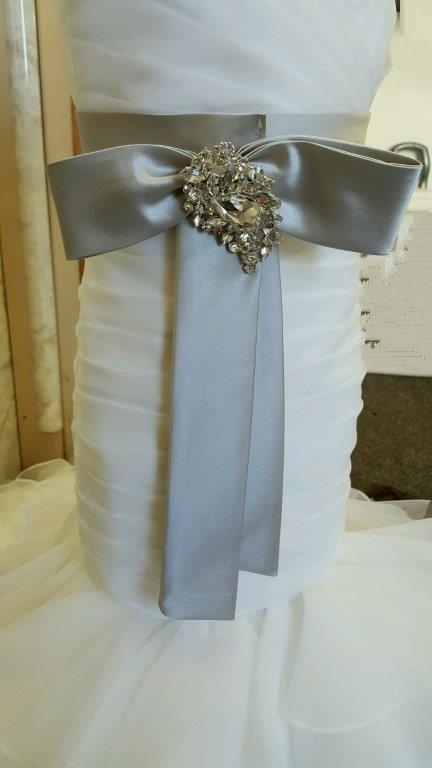 mermaid dress with sash