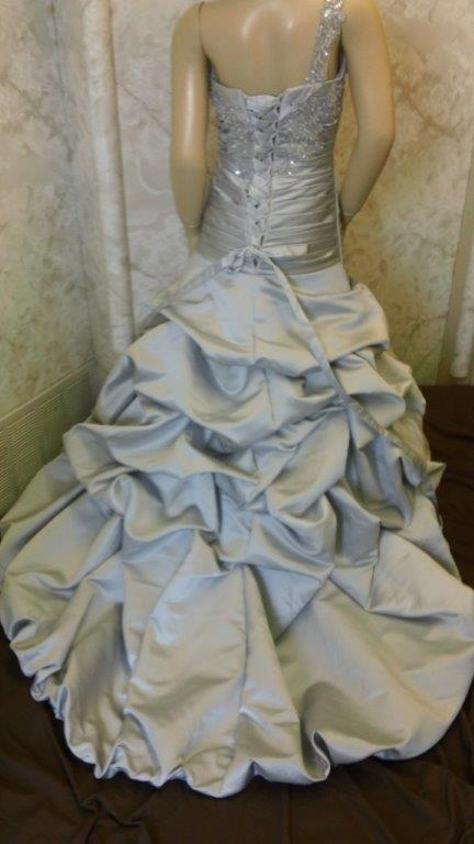 silver wedding dress for my flower
