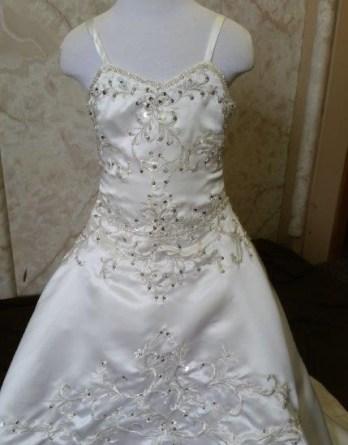 beaded embroidery flower girl dress