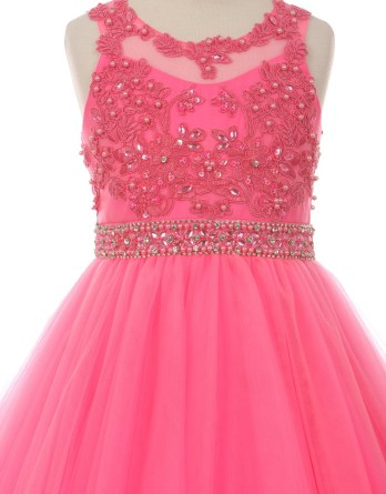 fuchsia girls easter party dresses
