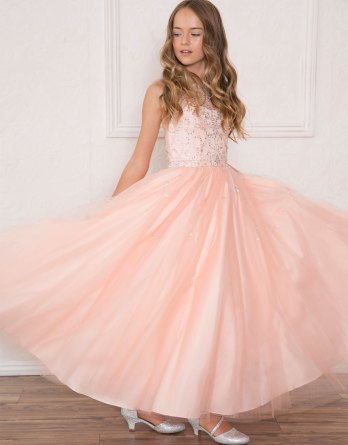 blush pageant dresses