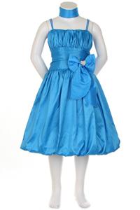 Turquoise bubble hem dress