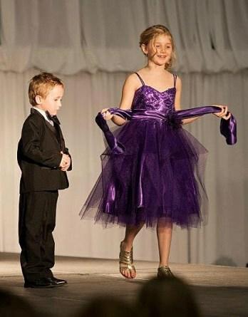 purple sparkling holiday dress