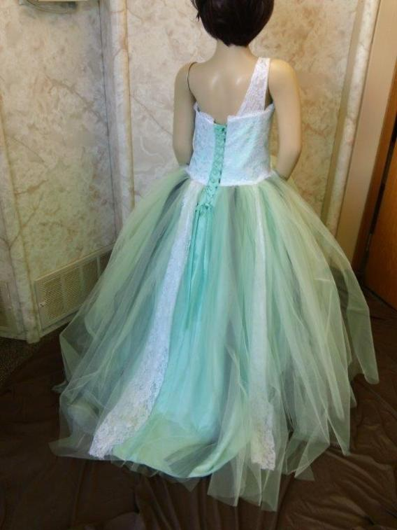 green tutu dress for flower girl