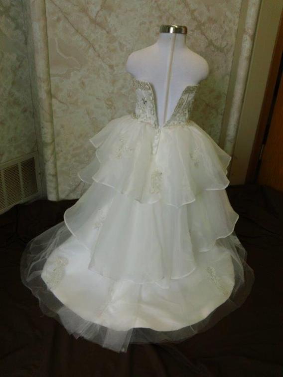 ruffle flower girl dress