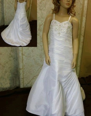 Jeweled mermaid flower girl dress
