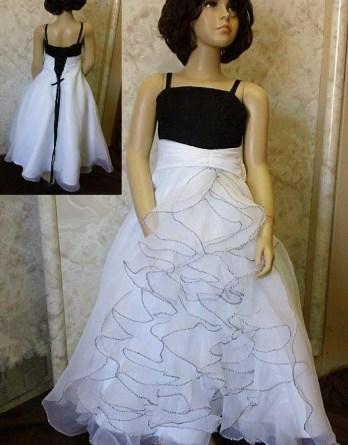 long ruffle flower girl dress
