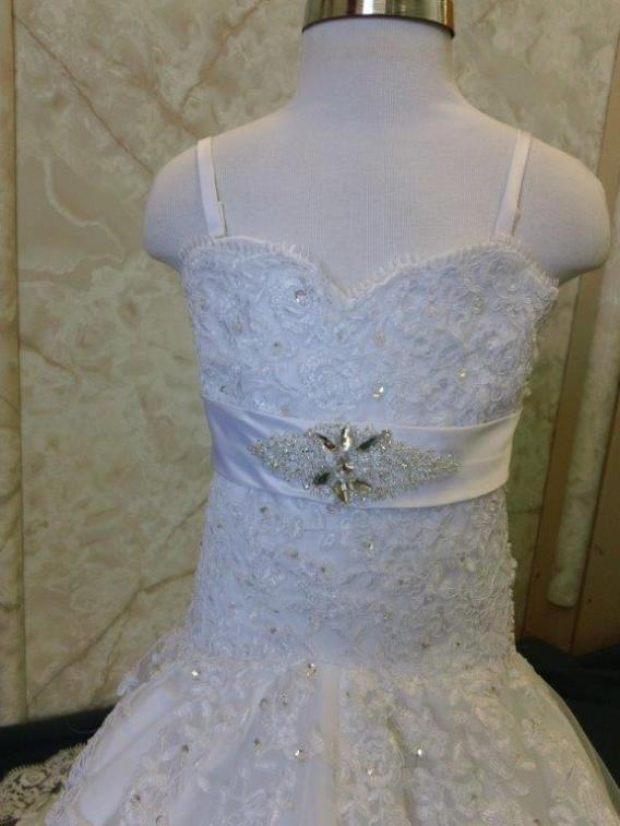 girl dress with crystal belt