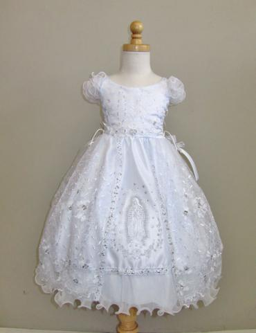 Babies christening gowns with Mary embroidered on front
