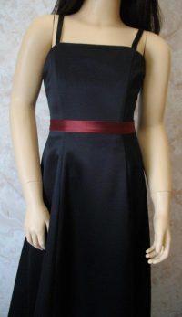 black junior bridesmaid dress