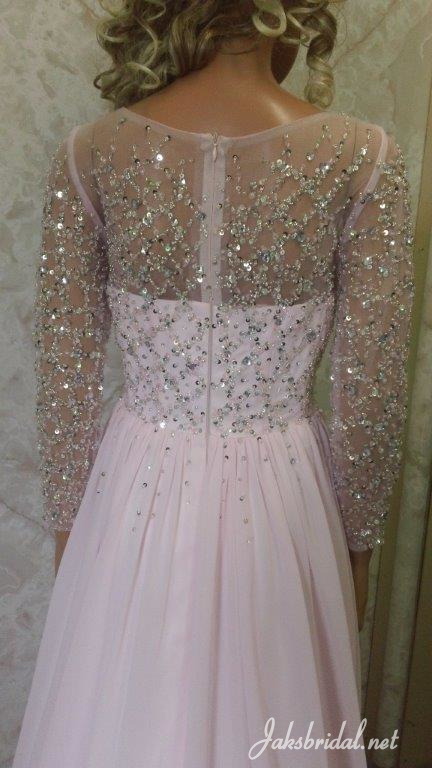 blush pink mother of the bride dress