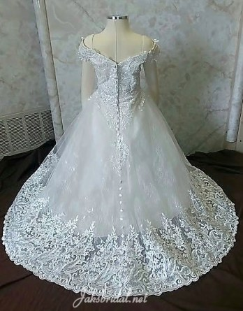off shoulder flower girl dress