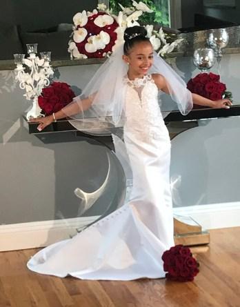 lace mermaid flower girl dress