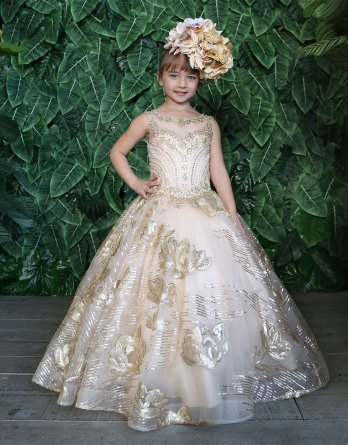 Girls Gold Holiday Dresses