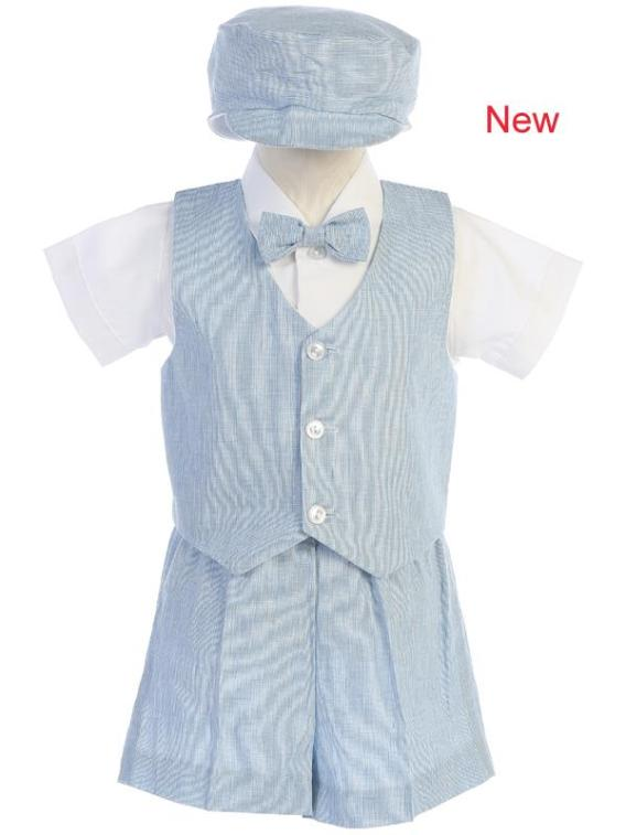 5 piece boys formal shorts outfit