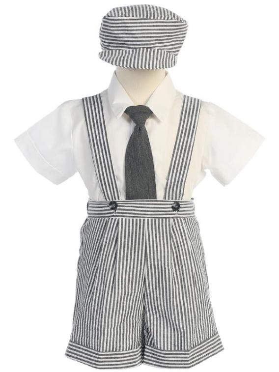 charcoal boys suspender outfit