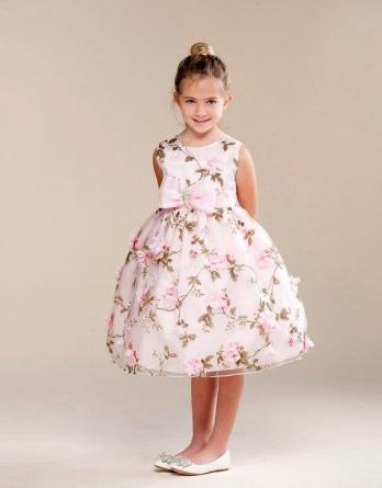 pink floral girls dresses