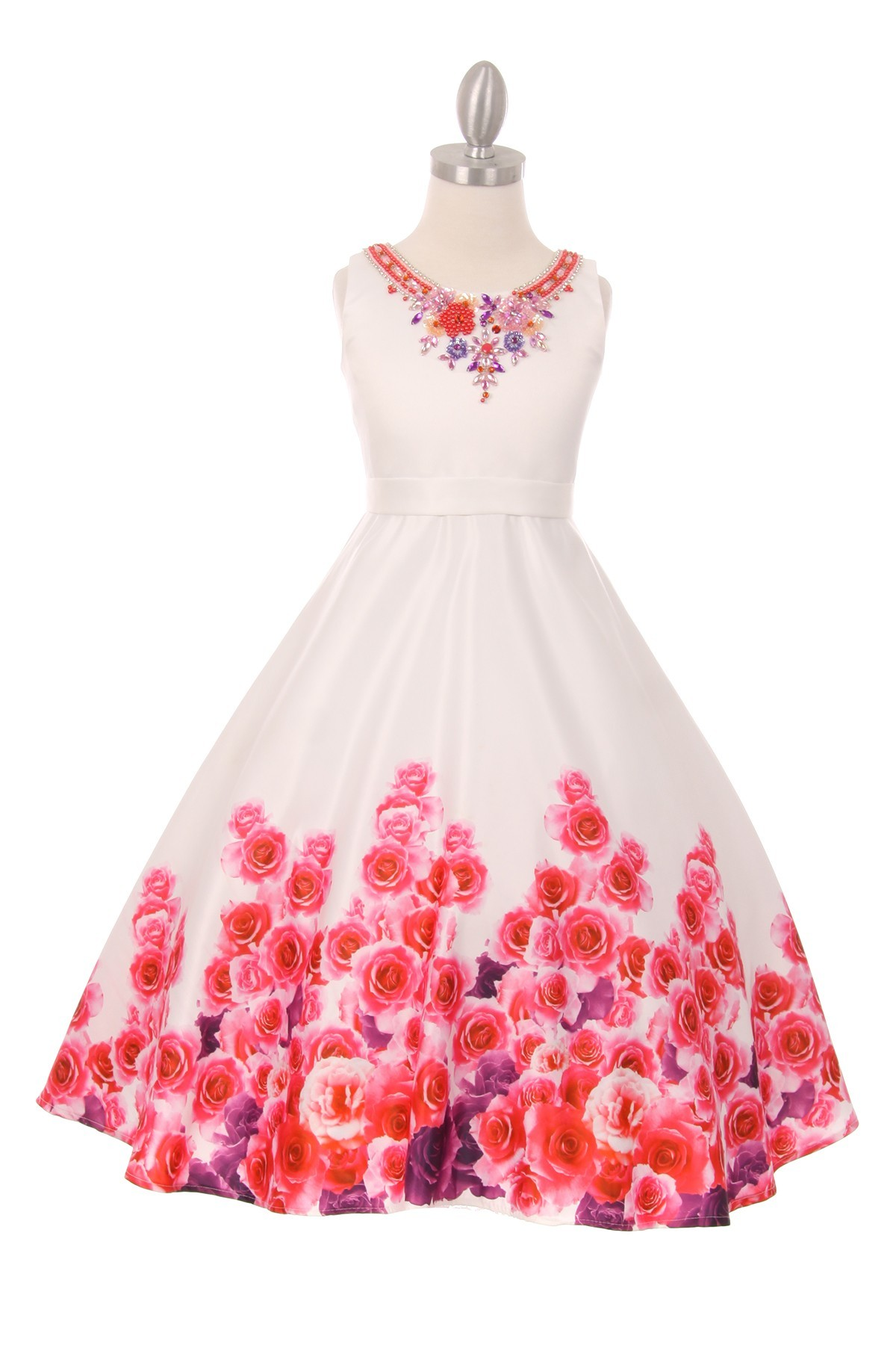 4867592beff Flower Girl Dresses With Red Rose Petals