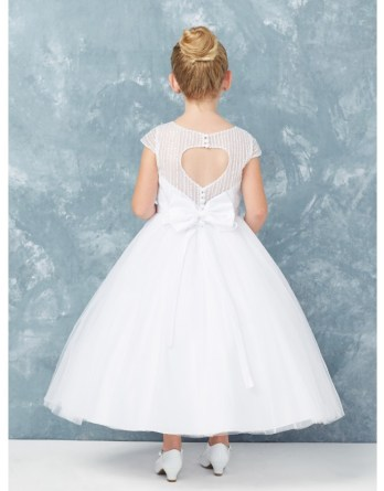 spring communion dress with open back