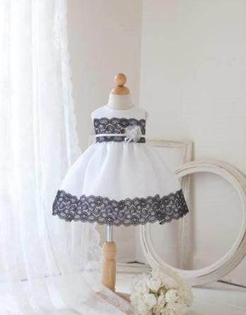 black and white baby dress