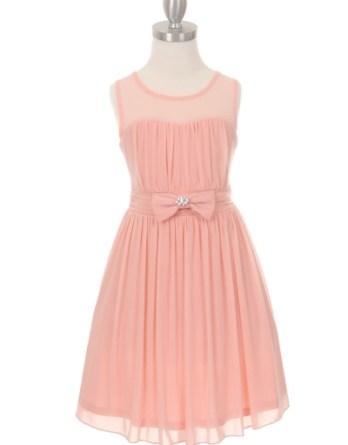 girls chiffon blush dress