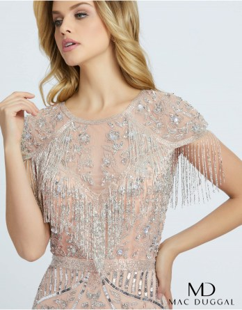 fringe gown by MacDuggal