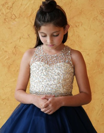 navy pageant girl dress